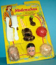 "Vintage Anita 70er muñecas pelucas set frieserset 29 cm 15"" Doll coleccionista set"
