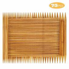 75pc/set 15 Sizes Double Pointed Carbonized Bamboo Knitting Needles 7.8