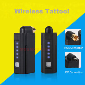 Wireless Tattoo Power Supply Battery Pack RCA & DC Connection For Tattoo Machine