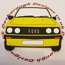 Ford MK2 Escort Rs 2000 Large Fridge Tool Box Magnet Coaster Signal Yellow