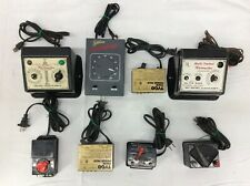 Vintage Lot of 8 Tyco, Trainmaster Model Train Transformer Controllers Untested