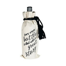 WINE BOTTLE GIFT BAG 'ECO FRIENDLY' WITH QUOTE - ANY OCCASION - REUSABLE