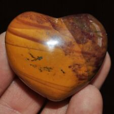 1 x Mookaite Jasper Crystal Heart Carving 40mm reiki crystals minerals Ref OE.MH