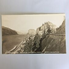Inspiration Point Columbia River Highway Oregon RPPC Real Photo Postcard