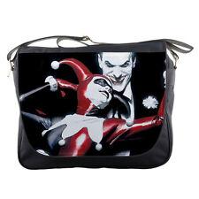Unisex School Messenger Bag Harley Quinn Vs Joker Shoulder Travel Notebook Bags