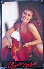 "Alyssa Milano ""Red dress"" Orig. vintage Poster ""1990"" Exc.+ new cond. - 22 x 34"""