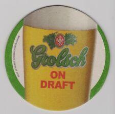 Grolsch Brewery Netherlands Dutch - Set of Two Pub Bar Beer Coasters