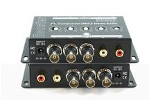 Shinybow Component BNC YPbPr Video + Stereo R/L Audio Amplifier Booster Extender