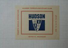 Hudson Terraplane Stamp Club 4th Annual Expo Detroit Mi Souvenir Label Ad