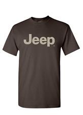 New Mopar Jeep Logo T-Shirt Shirt T Shirt Short Sleeve Brown XL Off Road 4x4 4wd