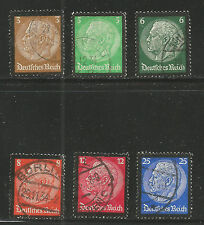 Germany 1934 Hindenburg Memorial (436-41) fine used