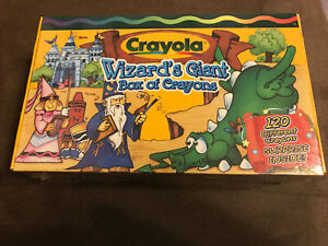 Crayola Wizard's Giant Box of 120 Crayons Brand NEW + Surprise Prize