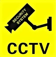 CCTV Security System sign decal sticker