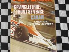 auto hebdo n°72 1977 / GRAND-PRIX ANGLETERRE / TAMBAY / MAGNY COURS FRE / CANAM
