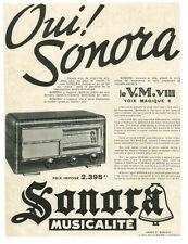 Publicité ancienne poste radio oui Sonora musicalité 1938 issue de magazine