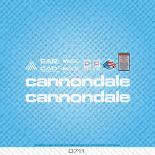 Cannondale M900 Bicycle Decals - Transfers - Stickers - White - Set 0711