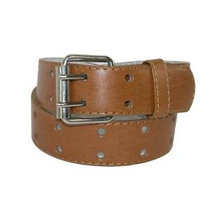 New CTM Kids' Leather Two Hole Jean Belt
