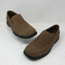 Earth Shoe 9 Clayton Loafer Driving Moc Mens Slip On Brown Suede Square Toe