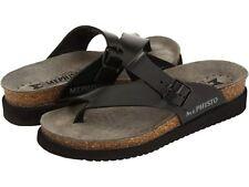 Mephisto Helen Sandanyl Black Waxy Leather Sandal  - NEW -  Choose Size