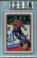 MONTREAL CHRIS CHELIOS signed autographed 1984-85 OPC ROOKIE CARD RC BECKETT BAS