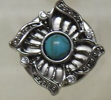 Celtic pattern 9 with Turquoise centre stone Noosa Style Snap Button