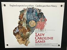 Original 1973 LADY CAROLINE LAMB Half Sheet Movie Poster 22 x 28