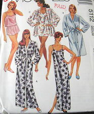 EASY womens nightgown lingerie pattern ROBE size 14 16 sleepwear cami shorts