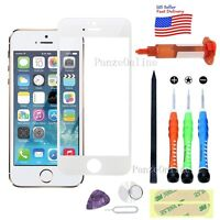 Outer Screen Glass Lens Replacement For iPhone 5&5S&SE Tools/UV(LOCA) Glue White