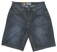 "Mens Chisel Jeans Dark Blue Denim Straight Leg Shorts CJ-2777S Size 30"" 32"" 34"""