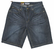 "Mens Chisel Jeans Dark Blue Denim Straight Leg Shorts CJ-2777S Size 30"" 32"" 34"""