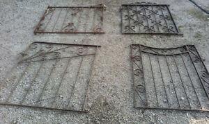 Reclaimed Vintage Antique cast iron garden gates heavy strong will ship