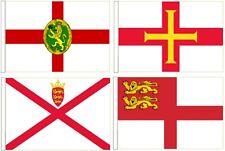 Channel Inseln Flaggen - Alle 4 Arm Höfflichkeit Flaggen Für Boote 45cm x 30cm
