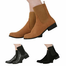 Patternless Block Heel Pull On Casual Boots for Women