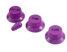 Plum Crazy Purple Strat Knobs & Tip (1V 2T) FOR Fender/Charvel USA Guitars