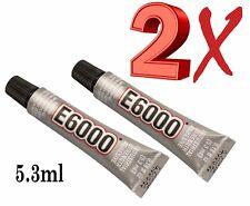 E6000 Pegamento Industrial Fuerza Multi-propósito 5.3 Ml claro Cristales & Cuentas 2X