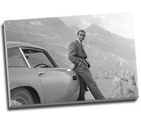 "Sean Connery 007 James Bond Aston Martin Db5 Canvas Print Large A1 30x20"""