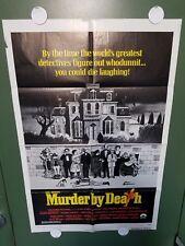 "1976 MURDER BY DEATH One Sheet 27""x41"" Peter Falk NEIL SIMON MYSTER COMEDY"