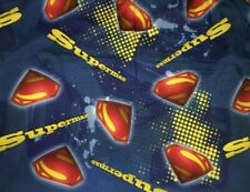 DC Comics Superman Man Of Steel Twin Sheet Set ( Flat and Fitted) Blue VG