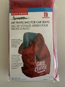 Air Travel Bag for Car Seats Red ~ Gate Check~ Protect from Germs and Dirt  New