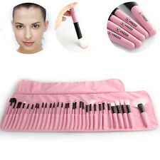 32Pcs Professional Makeup Brush Soft Cosmetic Vander LB Pink Set Kit + Bag New