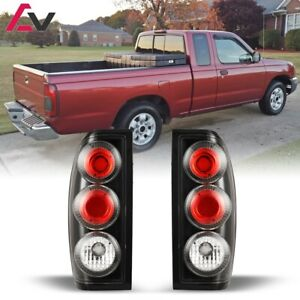 Altezza Tail Lights Set Pair LH RH for 1998-2004 Nissan Frontier - Black/Clear