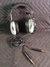 David Clark Pilot Aviation Headset Headphone H10-30 Microphone Dual Plug Gear