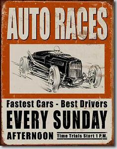 Vintage Old School Race Nostalgie Historique Voiture de Course Plaque Repro 975