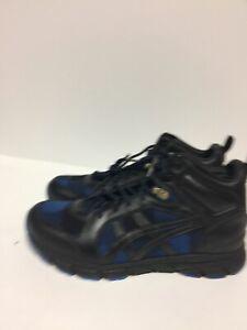 ASICS Onitsoka Tiger Mens Size US 7 Harandia  MT 4690 Blue Plaid Black Sneakers