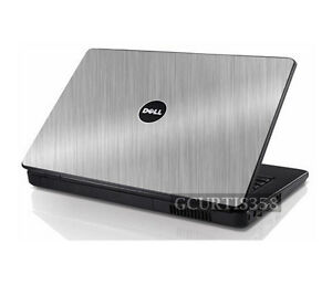 BRUSHED ALUMINUM Vinyl Lid Skin Cover fits Dell Inspiron 1525 1526 Laptop
