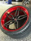 Vossen, 3 piece forged, custom staggered wheels and tires for Corvette C7 Z07