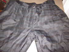 MINT KARBON #K0617 THERMORE INSULATED BLACK PLAID SNOW SKI BOARD PANTS WOMENS 12