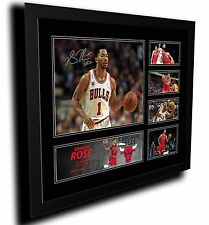 DERRICK ROSE CHICAGO BULLS SIGNED LIMITED EDITION FRAMED MEMORABILIA