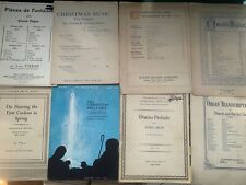 Antique Vintage Church Organ Sheet Music Classical Organists Sacred Many Titles