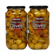 Kirkland Signature Pimento Stuffed Spanish Queen Olives 21 oz. Jars x 2 Jars